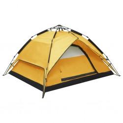 stradeXL Namiot kempingowy typu pop-up, 2-3 os., 240x210x140 cm, żółty