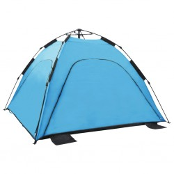 stradeXL Namiot plażowy typu pop-up, 220x220x160 cm, niebieski