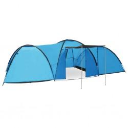 stradeXL Namiot turystyczny typu igloo, 650x240x190 cm, 8-os., niebieski
