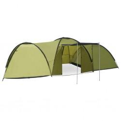stradeXL Namiot turystyczny typu igloo, 650x240x190 cm, 8-os., zielony