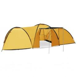 stradeXL Namiot turystyczny typu igloo, 650x240x190 cm, 8-os., żółty