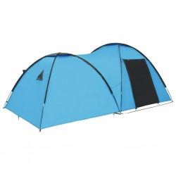 stradeXL Namiot turystyczny typu igloo, 450x240x190 cm, 4-os., niebieski