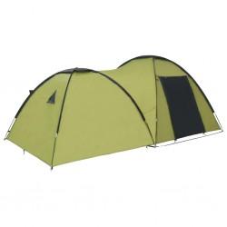 stradeXL Namiot turystyczny typu igloo, 450x240x190 cm, 4-os., zielony
