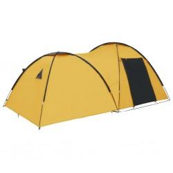 stradeXL Namiot turystyczny typu igloo, 450x240x190 cm, 4-os., żółty