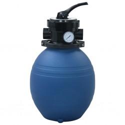 stradeXL Piaskowy filtr basenowy z zaworem 4 drożnym, niebieski, 300 mm