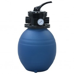 stradeXL Pool Sand Filter with 4 Position Valve Blue 300 mm