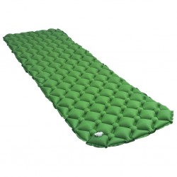 stradeXL Dmuchany materac, 58x190 cm, zielony
