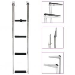 stradeXL Folding Boarding Ladder 4-step Stainless Steel