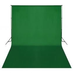 stradeXL System zawieszenia tła z zielonym tłem 500 x 300 cm