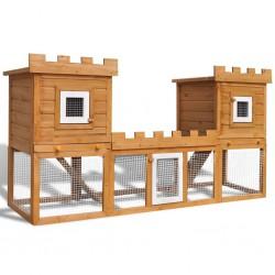 stradeXL Duża klatka dla królików lub innych zwierząt, 2-poziomowa