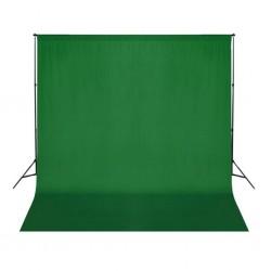 stradeXL Zielone, bawełniane tło fotograficzne, 300 x 300 cm, chroma key