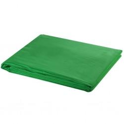 stradeXL Zielone tło fotograficzne, bawełna, 500 x 300 cm, chroma key
