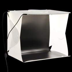 stradeXL Folding LED Photo Studio Light Box 40x34x37 cm Plastic White