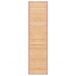 stradeXL Mata bambusowa na podłogę, 80 x 300 cm, brązowa