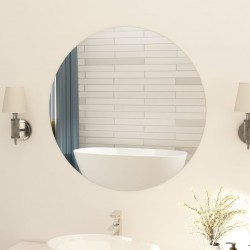 stradeXL Frameless Mirror Round 80 cm Glass