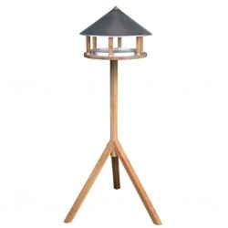 Esschert Design Karmnik dla ptaków, trójkątny, cynkowy daszek, FB431