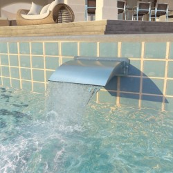 stradeXL Fontanna do basenu, stal nierdzewna, 30 x 9 x 26 cm, srebrna