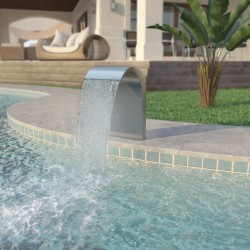 stradeXL Pool Fountain Stainless Steel 45x30x65 cm Silver