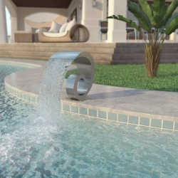 stradeXL Pool Fountain Stainless Steel 50x30x53 cm Silver