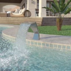 stradeXL Pool Fountain Stainless Steel 64x30x52 cm Silver