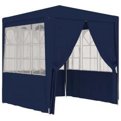 stradeXL Namiot imprezowy ze ściankami, 2,5x2,5 m, niebieski, 90 g/m²