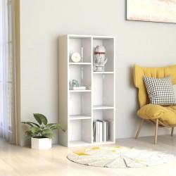 stradeXL Regał na książki, wysoki połysk, biały, 50x25x106 cm