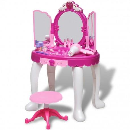 Toaletka dziecięca z 3 lustrami oraz światłem i dźwiękiem