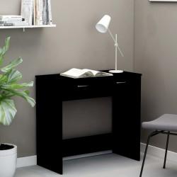 stradeXL Biurko, czarne, 80x40x75 cm, płyta wiórowa