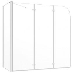 stradeXL Parawan na wannę, 120x69x130 cm, szkło hartowane, przezroczyste