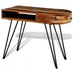 stradeXL Biurko z żelaznymi nogami, lite drewno z odzysku