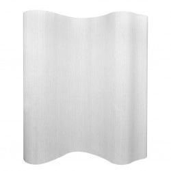 stradeXL Parawan bambusowy, biały, 250 x 165 cm