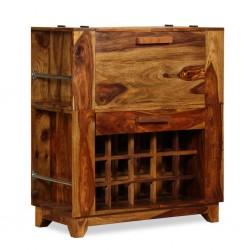 stradeXL Szafka barowa z drewna sheesham, 85 x 40 x 95 cm