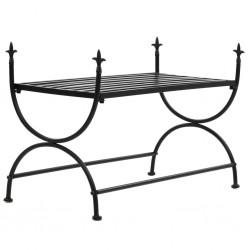 stradeXL Ławka w stylu vintage, metalowa, 83x42x55 cm, czarna