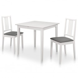 stradeXL 3-częściowy zestaw mebli do jadalni, MDF, biały