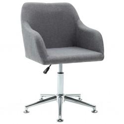 stradeXL Obrotowe krzesło biurowe, jasnoszare, tkanina