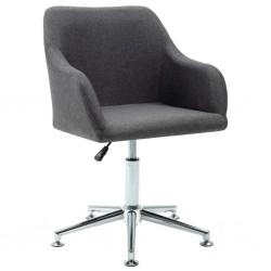 stradeXL Obrotowe krzesło biurowe, ciemnoszare, tkanina