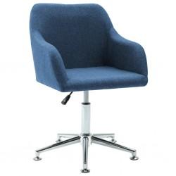 stradeXL Obrotowe krzesło biurowe, niebieskie, tkanina