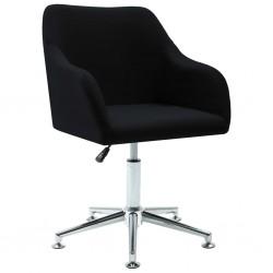 stradeXL Obrotowe krzesło biurowe, czarne, tkanina