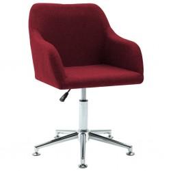 stradeXL Obrotowe krzesło biurowe, czerwone wino, tkanina