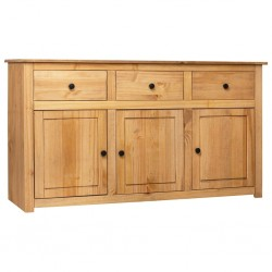 stradeXL Szafka, 135x40x80 cm, lite drewno sosnowe, seria Panama