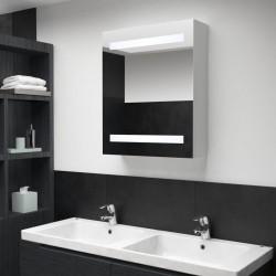 stradeXL Szafka łazienkowa z lustrem i LED, 50 x 13,5 x 60 cm