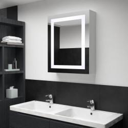 stradeXL Szafka łazienkowa z lustrem i LED, 50 x 13 x 70 cm