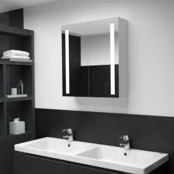 stradeXL Szafka łazienkowa z lustrem i LED, 62 x 14 x 60 cm