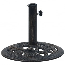 stradeXL Podstawa pod parasol, czarny i brąz, 9 kg, 40 cm, żeliwo
