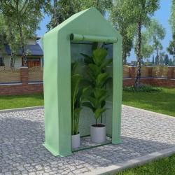 stradeXL Szklarnia ogrodowa, stalowa konstrukcja, 0,5 m², 1x0,5x1,9 m