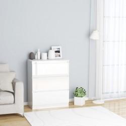 stradeXL Komoda biała na wysoki połysk, 60 x 33,5 x 76 cm, płyta wiórowa
