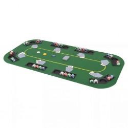 stradeXL Składany blat do pokera dla 8 graczy, prostokątny, zielony