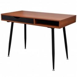 Brązowe biurko pod komputer
