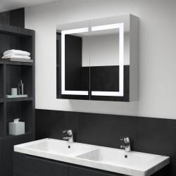 stradeXL Szafka łazienkowa z lustrem i LED, 80 x 12,2 x 68 cm