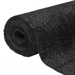stradeXL Sztuczna trawa 1x25 m/7-9 mm. czarna